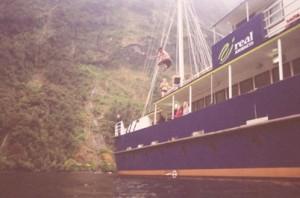 Udspring fra båd